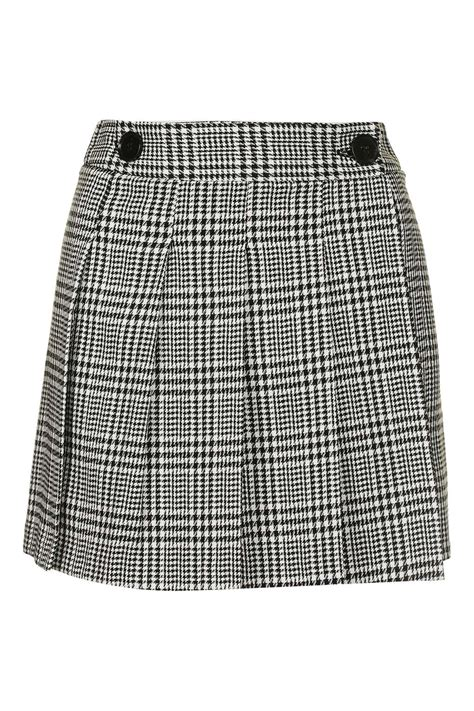 check print kilt style skirt topshop