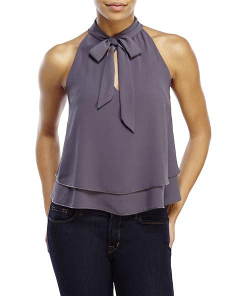 Tie Neck Halter Top tie neck halter top wardrobe mag