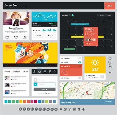 design graphics for website freebie psd ui kit uicloud