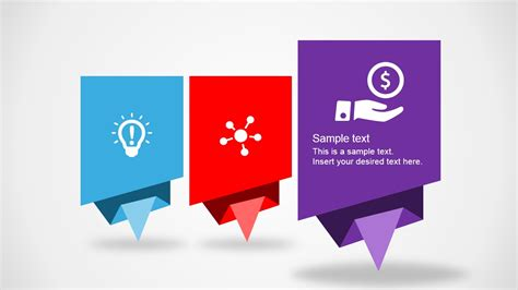 Origami Design - colorful origami design layout for powerpoint slidemodel