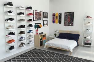 Mens Bedroom Ideas Ikea Ikea 174 And Hypebeast Design The Ideal Sneakerhead Bedroom Display Bedrooms And Spaces