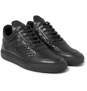 Mrp Home Design Quarter Woven Staple Filling Pieces Woven Leather Sneakers