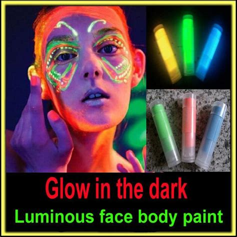 glow in the dark face tattoo glow in the dark black light body paint face body color
