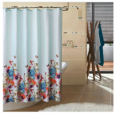 72 by 78 shower curtain eforgift garden theme fabric shower curtain waterproof