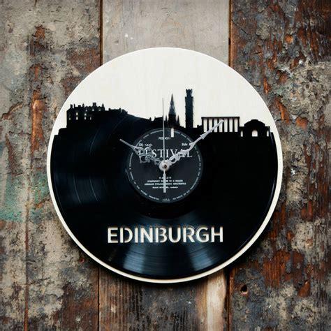 Edinburgh Records Edinburgh Skyline Record Style Clock By Blue Notonthehighstreet