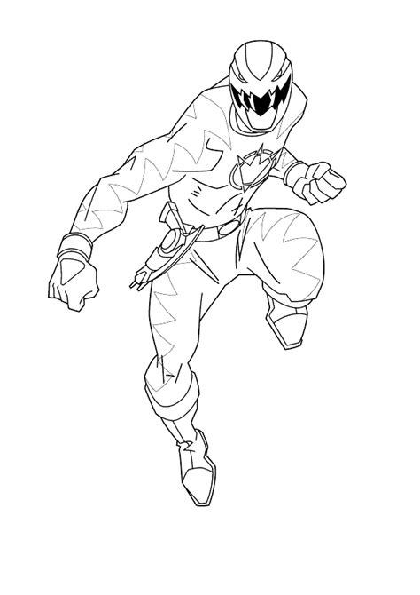 red ranger tyrasurus coloring page coloring pages