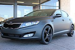 Matte Black Kia Forte Customize Your Kia At Earnhardt Kia Custom Wraps Wheels
