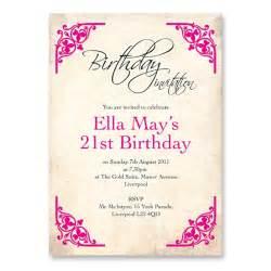 s 21st birthday invitation