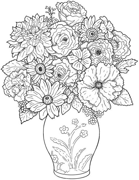 Flowers Coloring Pages Print by Free Printable Flower Coloring Pages For Best
