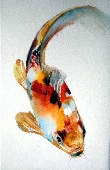 watercolor tattoo koi fish tropical koi a painting a day sold a painting a day