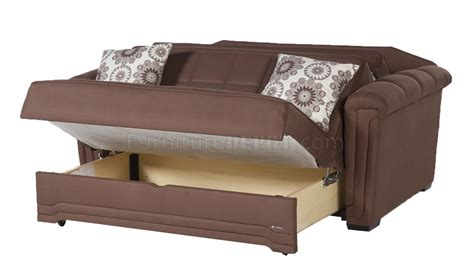 Truffle Bed by Truffle Microfiber Modern Convertible Loveseat Bed W Pillows