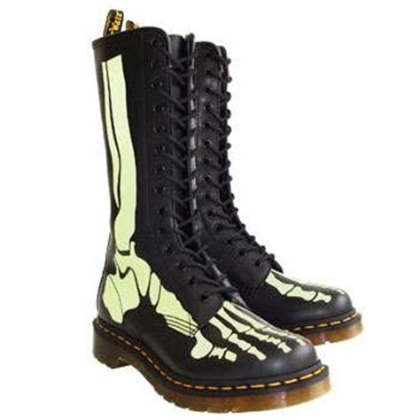doc marten combat boots glow in the bones doc marten releases the skelly