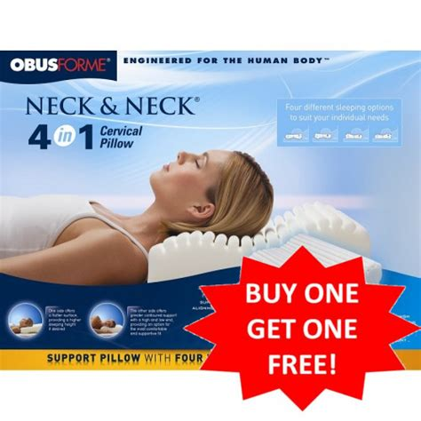 obus forme neck and neck 4 in 1 cervical pillow buy one