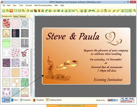 Wedding card maker software design invitation cards