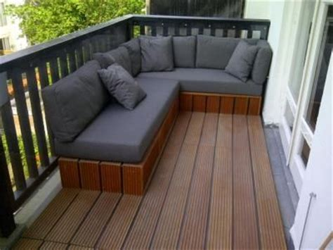balkon lounge lounge bank op balkon huis ideeen
