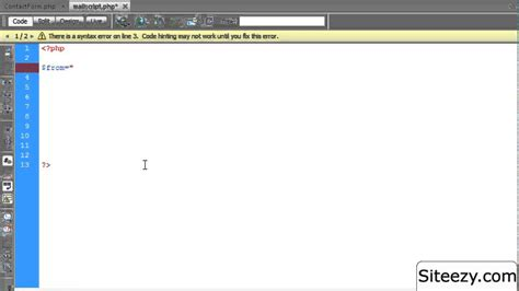 tutorial php dreamweaver how to create a contact form and submit email using php
