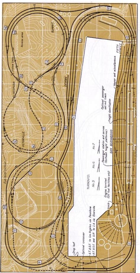 layout scale view 17 best images about track plans on pinterest view