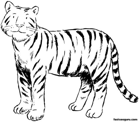 snow tiger coloring page free children walking in snow coloring pages