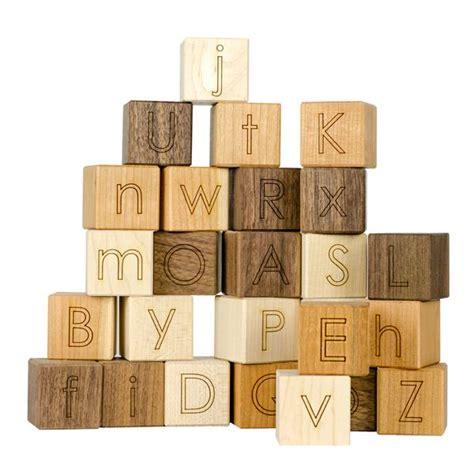 wooden block letters alphabet blocks sapling toys 1723