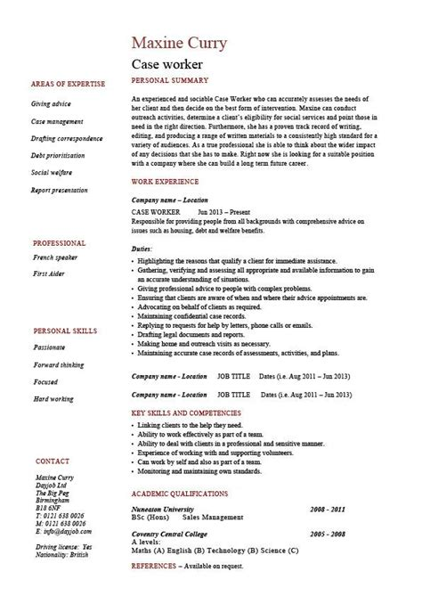 case worker resume social sle exle templates