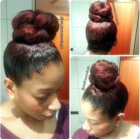 party hairstyles for relaxed hair 100 best i love bangs buns images on pinterest black