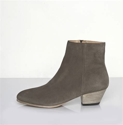 suede boot common projects suede zip ankle boot in gray warm grey