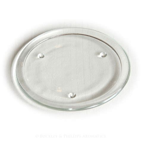 Candle Plate Glass Candle Plate 10cm Accessories Candle Plates
