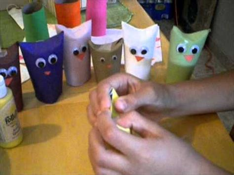 How To Make Puppets Out Of Paper - how to make owl puppets out of toilet paper rolls