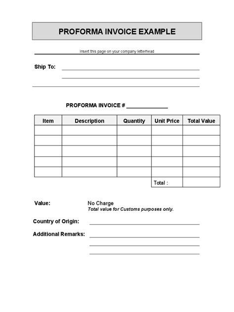 Proforma Invoice Letter Sle Blank Proforma For Resume 28 Images 9 Proforma Invoice