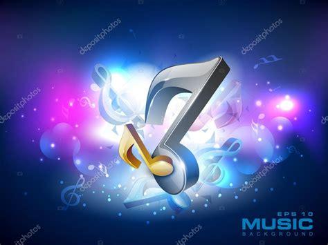 imagenes musicales 3d notas musicales 3d sobre fondo brillante eps 10 vector