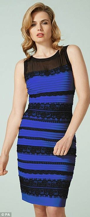 color of the dress the dress that divided the is blue and black daily mail