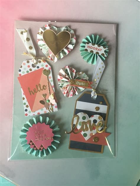 Handmade Embellishments - handmade embellishment using my mind s eye ontrend2 paper