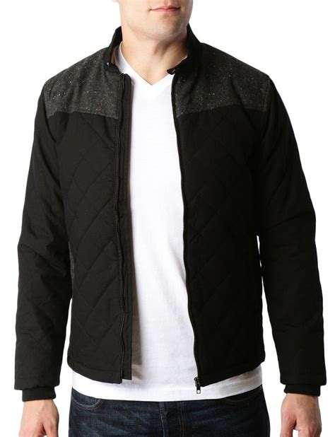 Mens Lightweight Quilted Jacket by Mens Lightweight Quilted Zip Bomber Jacket With