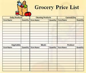 Home Shopping List Template by Price List Template 9 Free Documents In Pdf