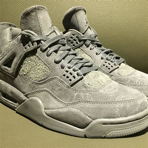 Air 4 Cool Grey On by Kaws X Air 4 Quot Cool Grey Quot 2017 Justfreshkicks