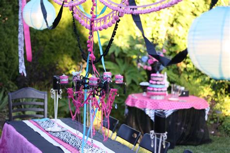 themes for teenage girl parties designed by dad teen girls birthday party design dazzle