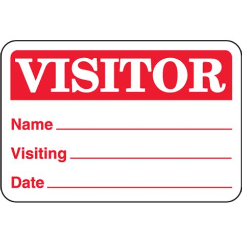 visitor badge template word stock visitor badges on a roll name tags seton