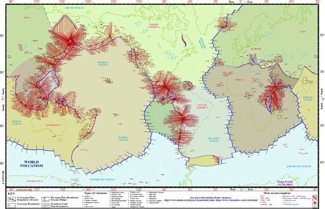 map of volcanoes in america world volcanism maps