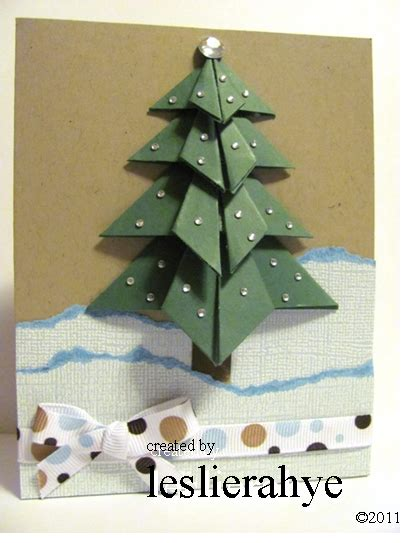 Origami Tree Card - festive friday 14 origami tree leslierahye