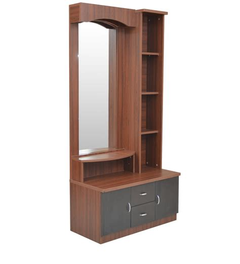 buy regent dressing table in wenge colour by crystal furnitech online dressing tables