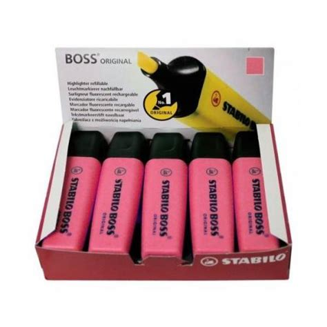 Stabilo Pink Isi 10 stabilo 174 highlighter pink pack of 10 70 56 ss7056