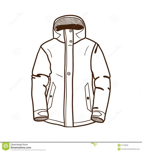 jacket layout vector coat clipart outline pencil and in color coat clipart