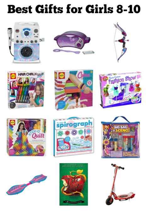 a list of the best gifts for 8 10 year old girls gifts