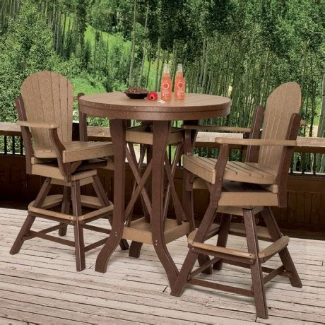 Patio Bar Table Set Amish Made Patio Pub Bar Sets Pinecraft Outdoor Pub Table Sets Outdoor Bar And Bar