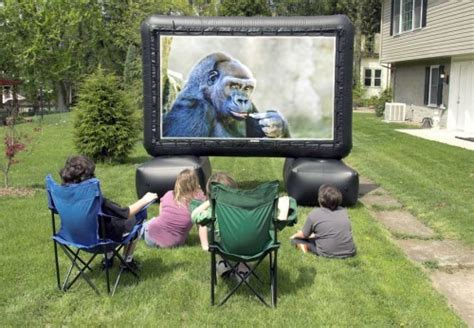 back yard 12 foot home theater hacked gadgets