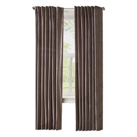 home depot curtain panels home decorators collection hdc velvet lined back tab