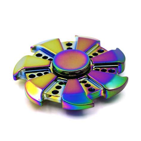 Fidget Spinner Metalic Original Premium rainbow metal fidget spinner zinc alloy
