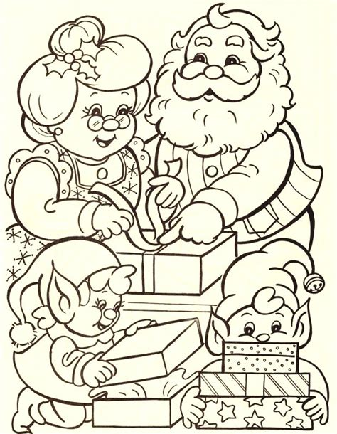 coloring pages of santa and mrs claus christmas coloring pages