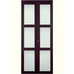 Glass Bifold Closet Doors Shop Reliabilt 3 Lite Frosted Glass Bi Fold Closet Interior Door Common 30 In X 80 In Actual