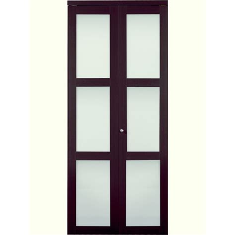 Bi Fold Doors Glass Panels Shop Reliabilt Frosted Glass Mdf Bi Fold Closet Interior Door With Hardware Common 36 In X 80